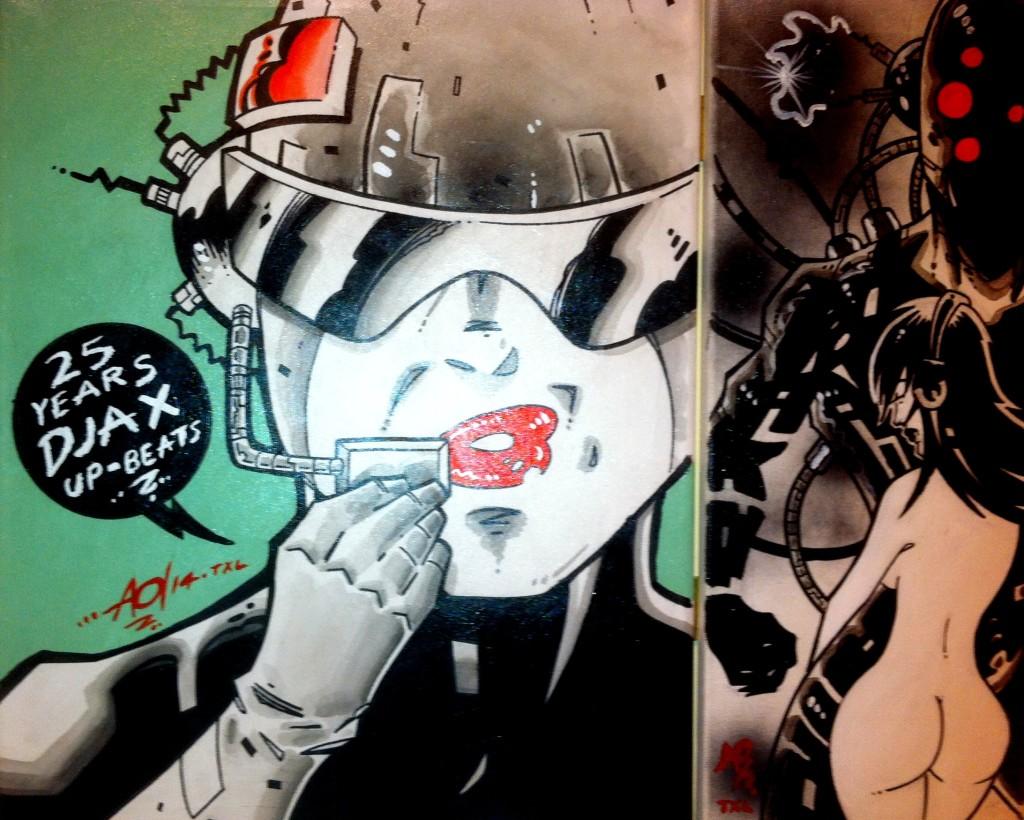 """""""DJAX Upbeats"""" - 25th Anniversary canvas."""