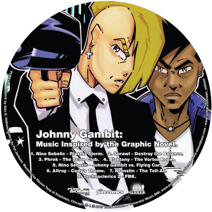 Cartoon character - Johnny Gambit.