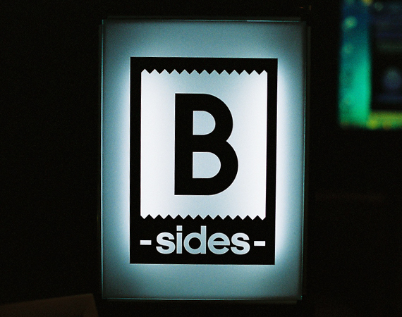 Logo displaying the word - B Sides