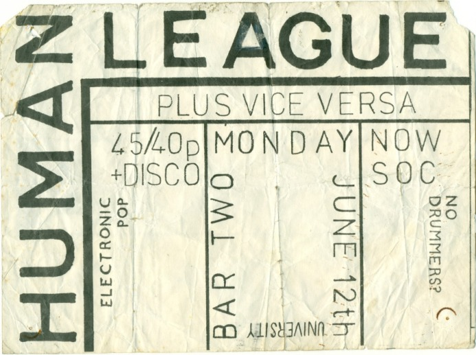 Human League Flyer