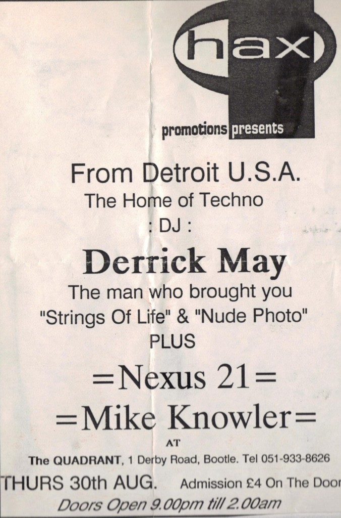 Nexus 21 flyer with Derrick May