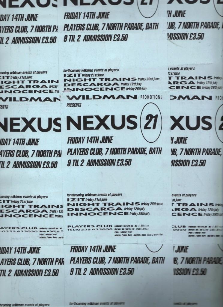 Nexus 21 - Gig flyer
