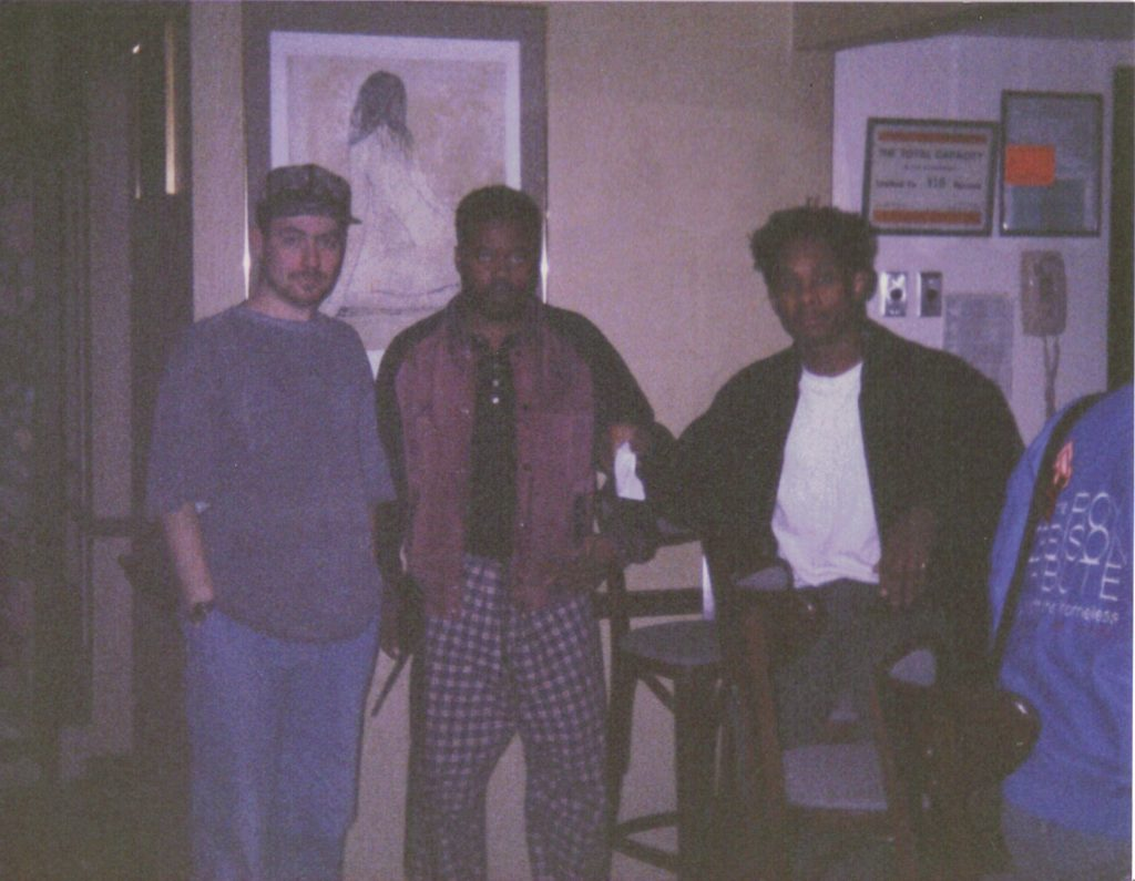 Mark Archer, Derrick May & Juan Atkins in the studio.