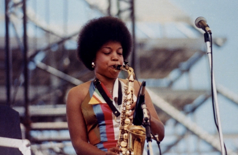 Norma Jean Bell - In stage with the Tommy Bolin Band