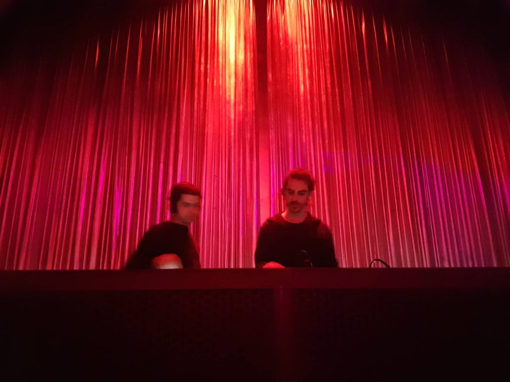 Rui Ferreira & Jorge Caiado in the booth at Lux, Lisbon.