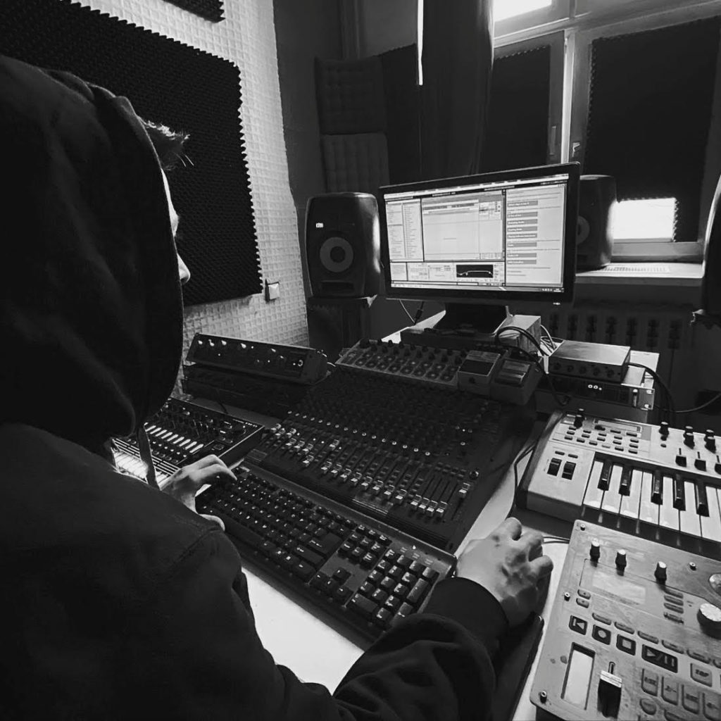 Stojche in the studio