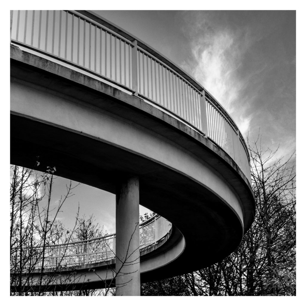 Picture of a curved bridge structure taken by Martin Dust.
