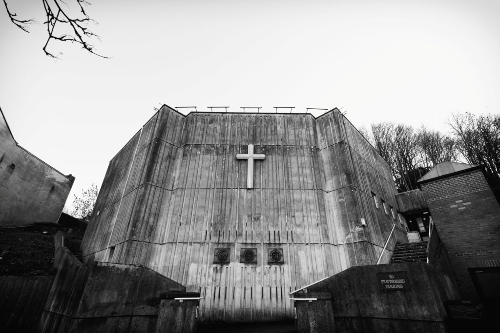 Picture of a 60s build concrete church taken by Martin Dust.