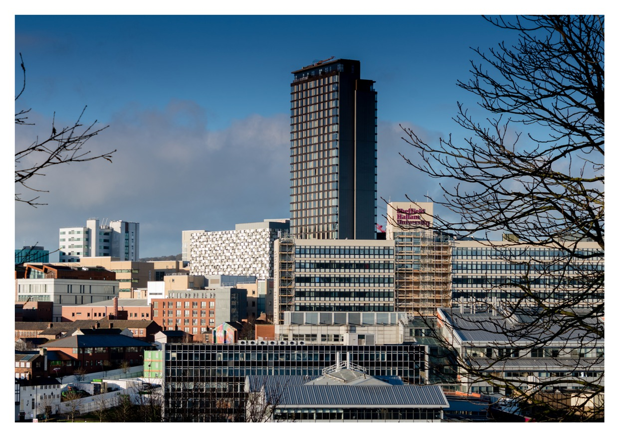 Photograph of the Sheffield Skyline by Martin Dust