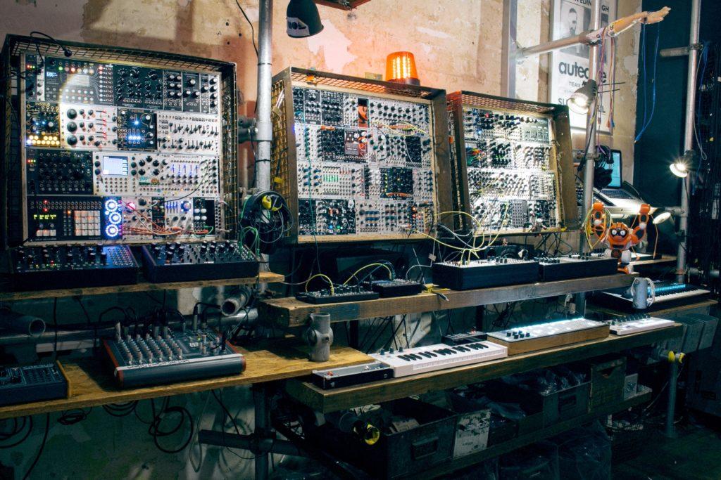 Wall of machine fun at Elevator Sound.